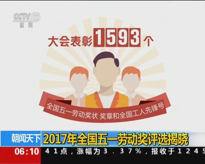 2017年全国五一劳动奖评选揭晓